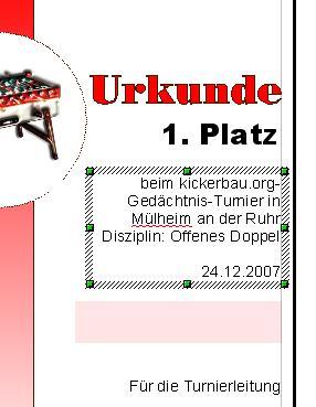 Urkunden Vorlagen Für Kickerturniere Kickerbauorg